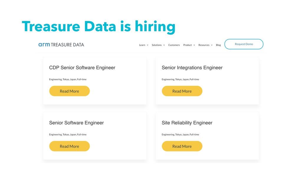 Treasure Data is hiring