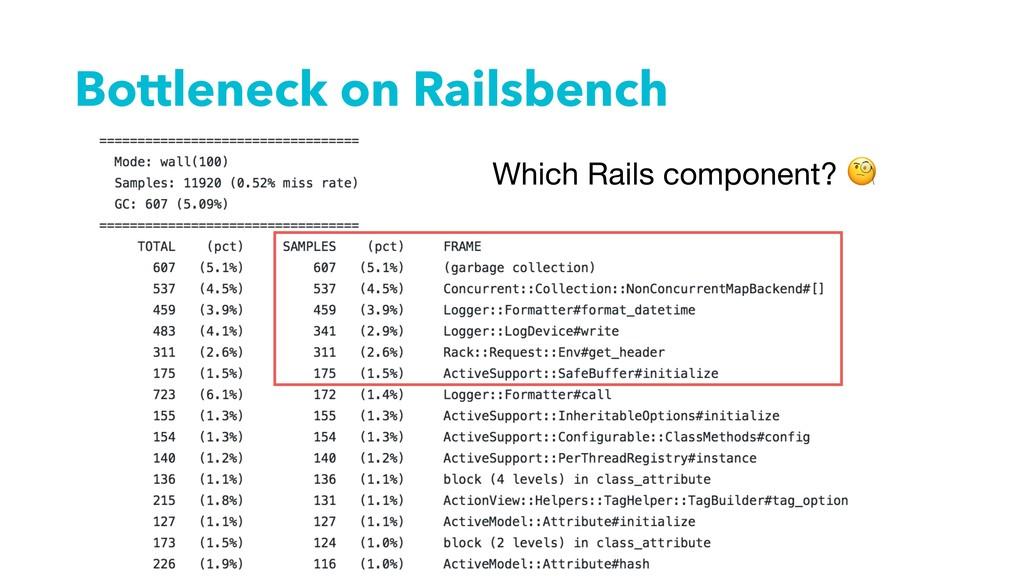 Bottleneck on Railsbench Which Rails component?