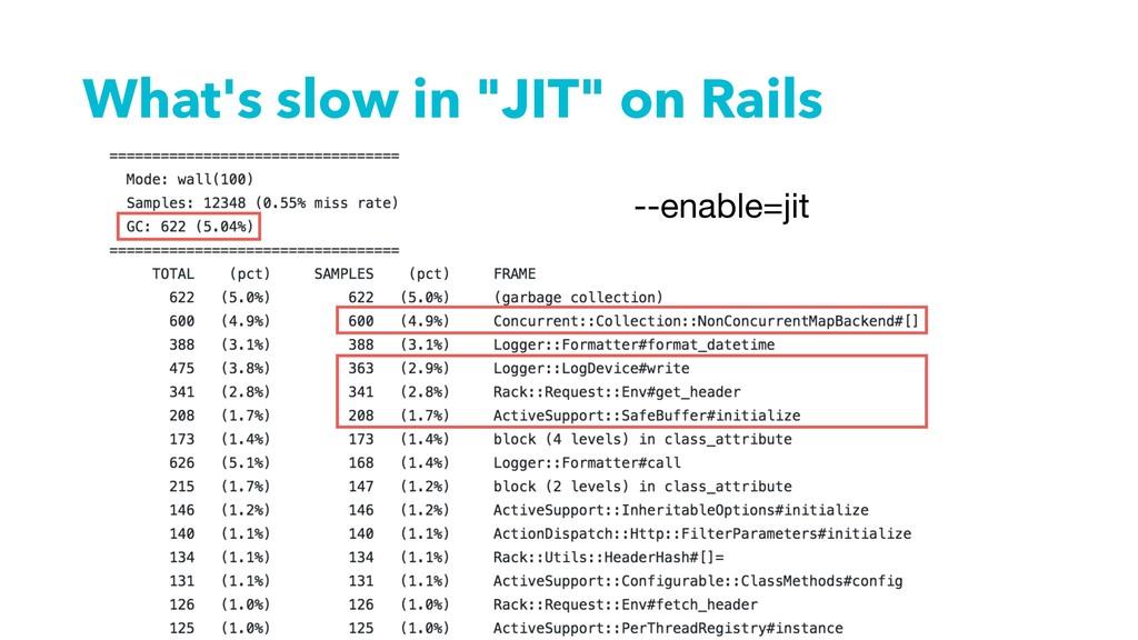 "What's slow in ""JIT"" on Rails --enable=jit"