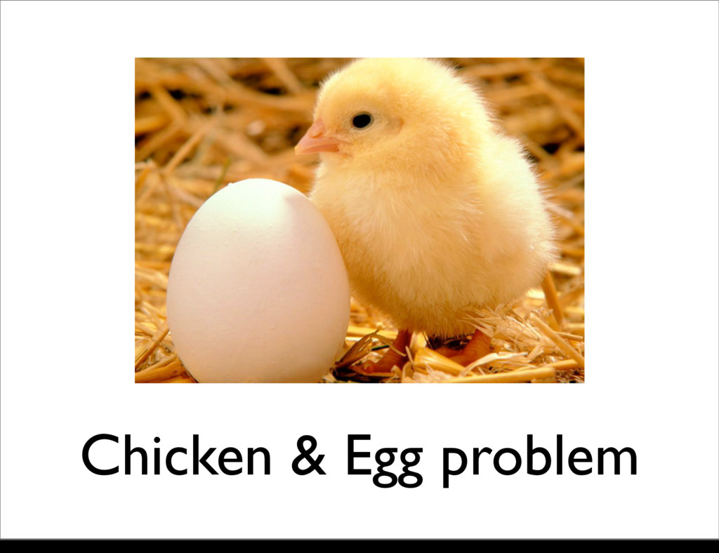 Chicken & Egg problem Monday, 21 October, 13