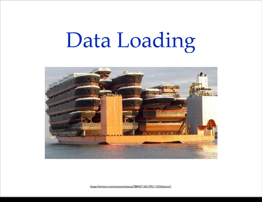 Data Loading https://twitter.com/usmanm/status/...