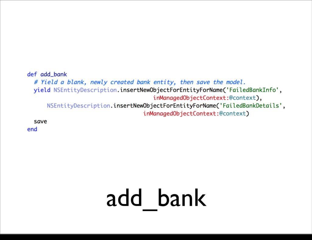 add_bank Monday, 21 October, 13