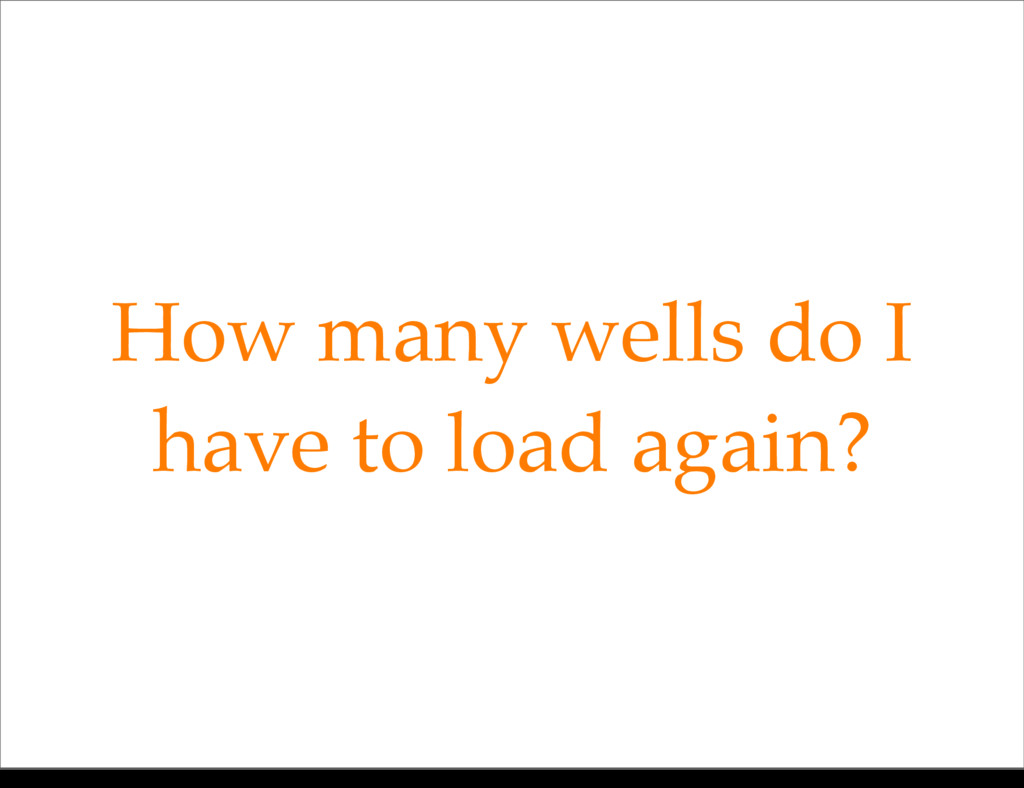 How many wells do I have to load again? Monday,...