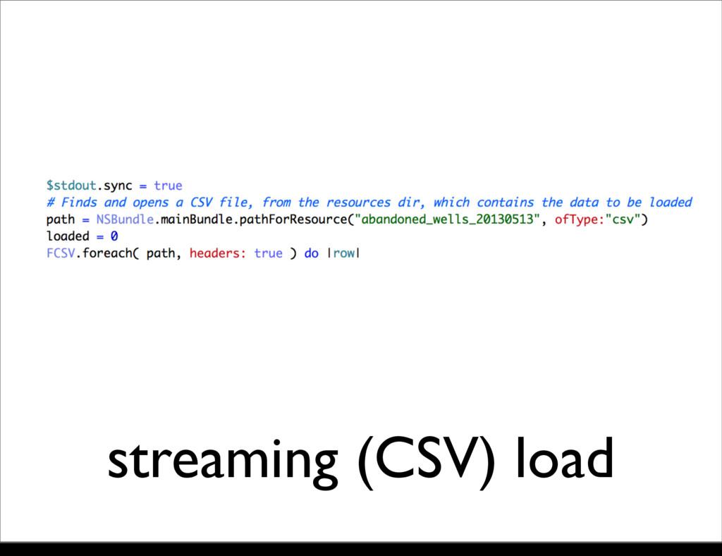 streaming (CSV) load Monday, 21 October, 13