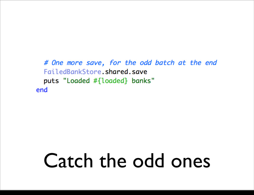 Catch the odd ones Monday, 21 October, 13