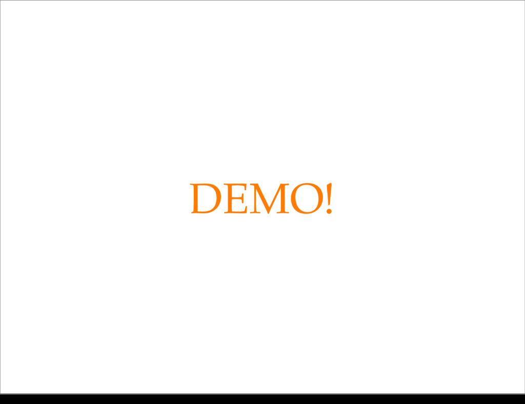 DEMO! Monday, 21 October, 13