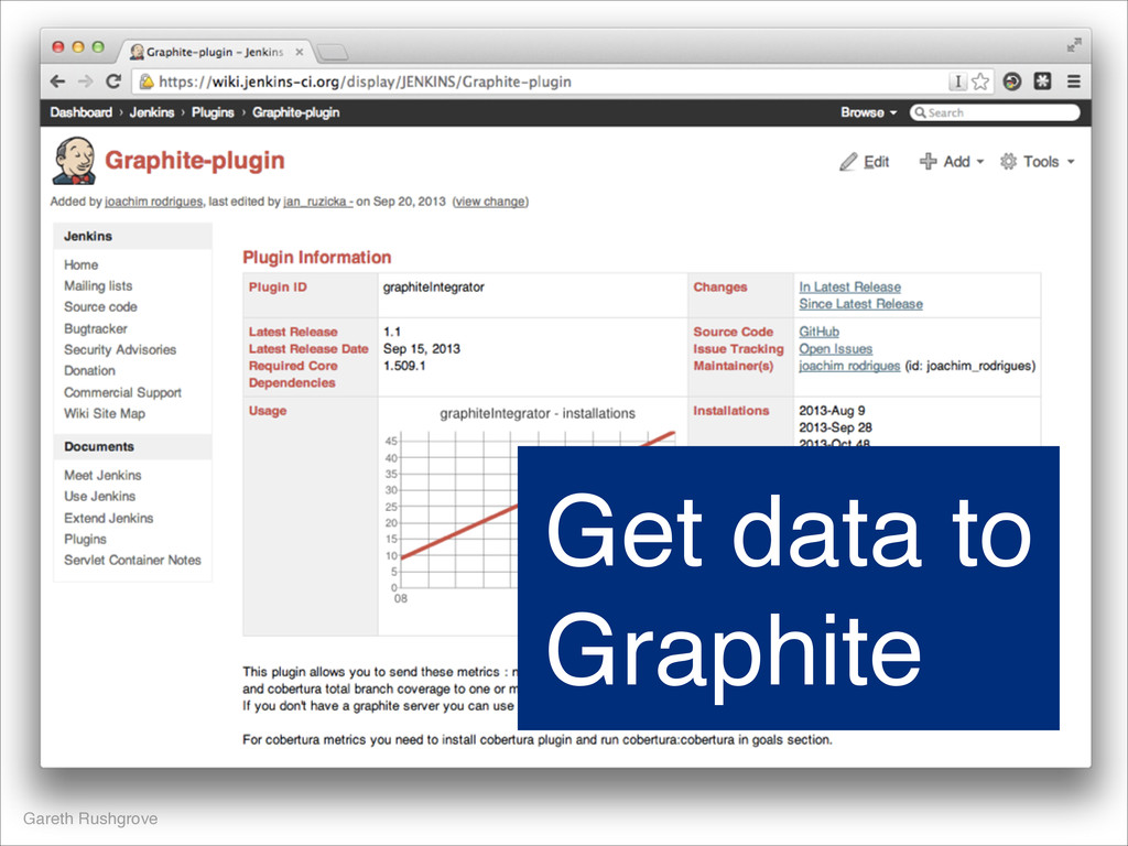 Gareth Rushgrove Get data to Graphite