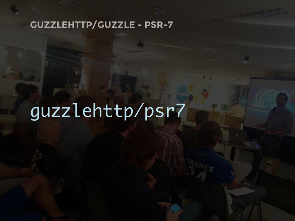 GUZZLEHTTP/GUZZLE - PSR-7 guzzlehttp/psr7