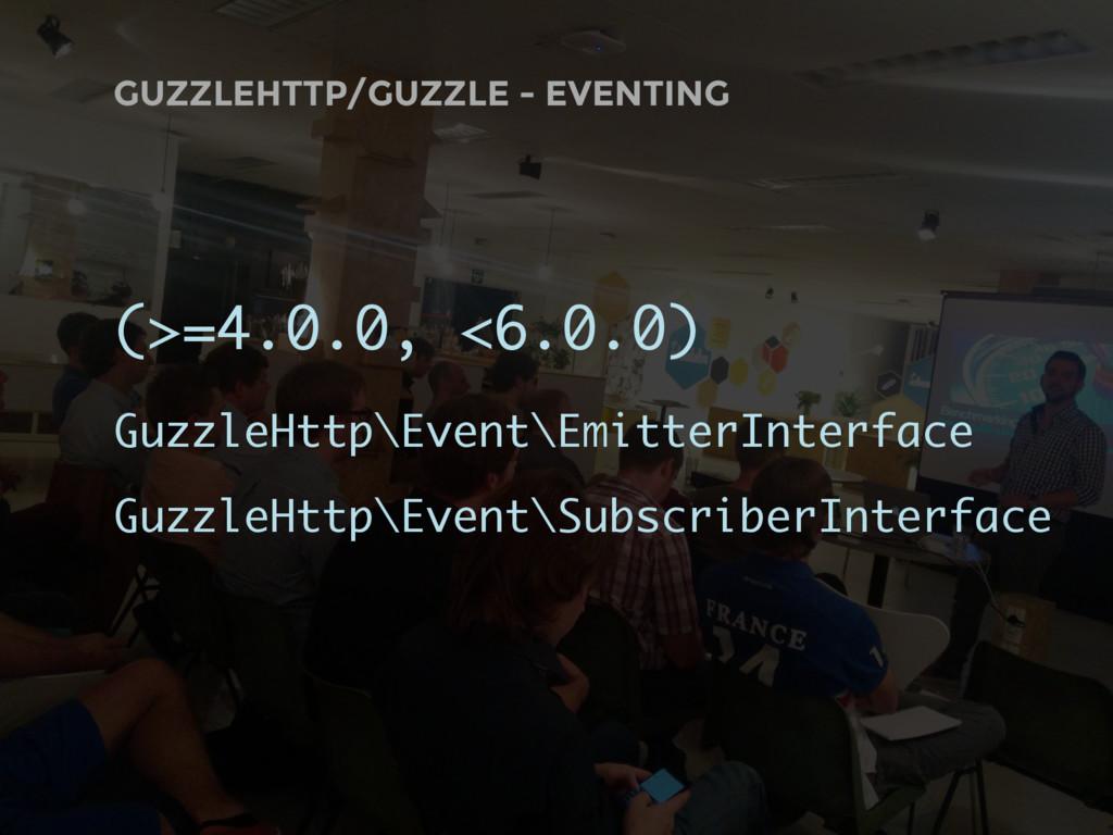 GUZZLEHTTP/GUZZLE - EVENTING (>=4.0.0, <6.0.0) ...