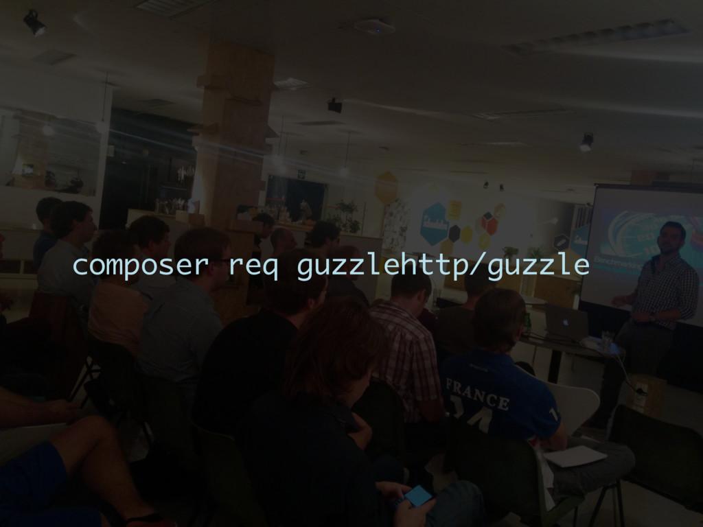 composer req guzzlehttp/guzzle