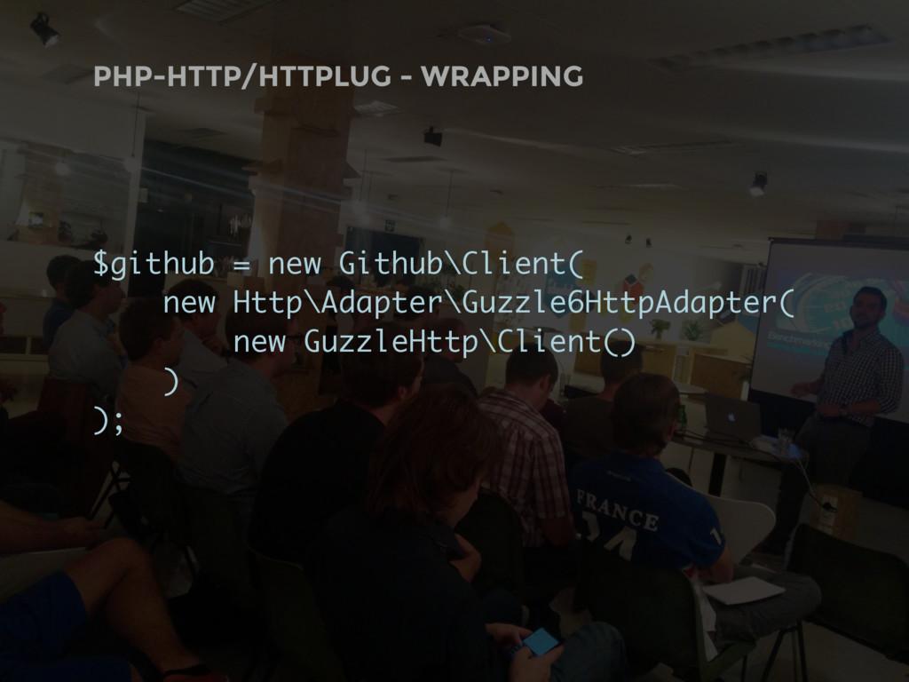 PHP-HTTP/HTTPLUG - WRAPPING $github = new Githu...
