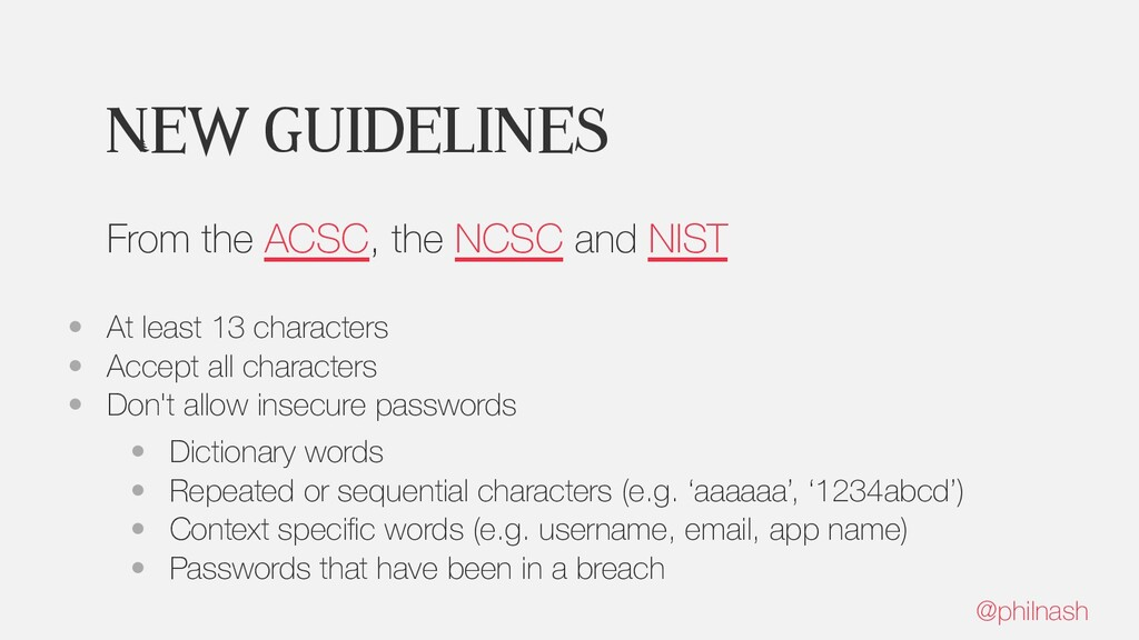 New guidelines From the ACSC, the NCSC and NIST...