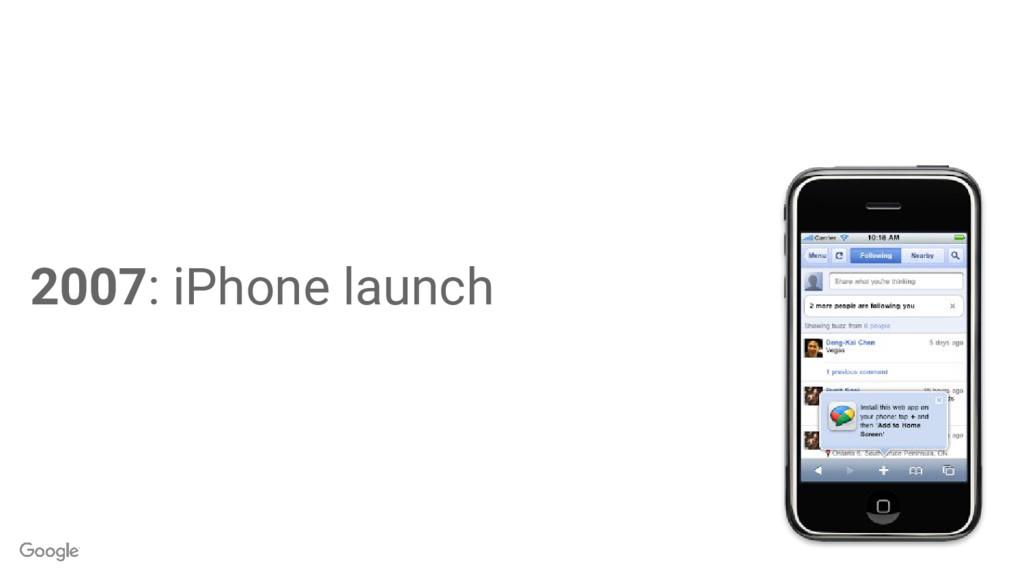 2007: iPhone launch