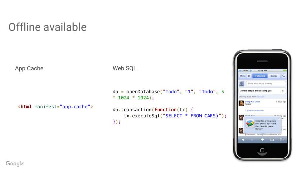"Offline available <html manifest=""app.cache""> d..."