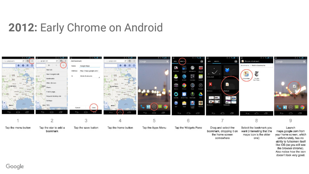 2012: Early Chrome on Android