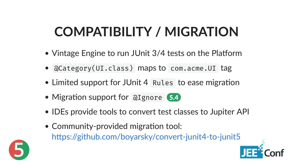 5 COMPATIBILITY / MIGRATION Vintage Engine to r...