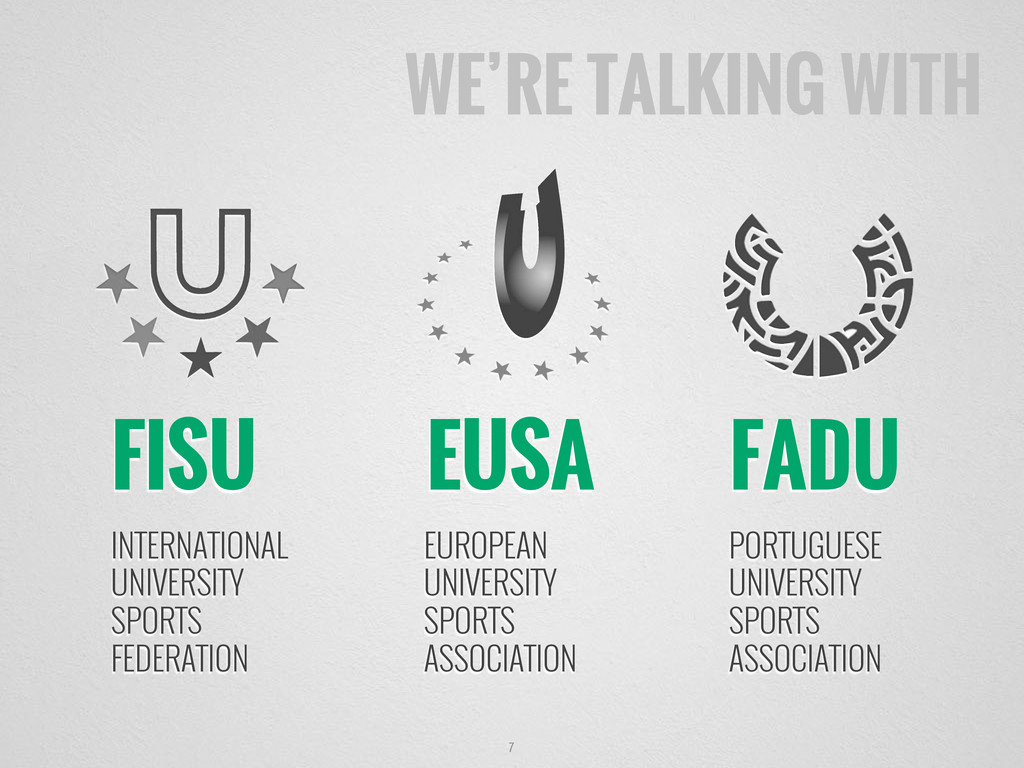 WE'RE TALKING WITH 7 FISU INTERNATIONAL UNIVERS...