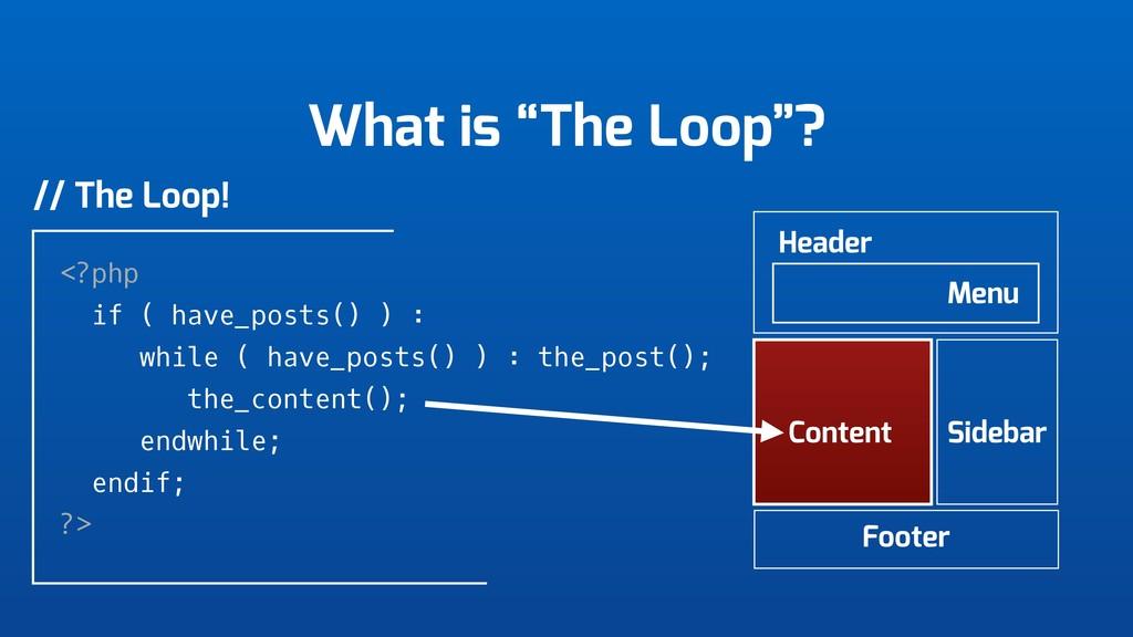 """What is """"The Loop""""? Header Menu Content Sidebar..."""