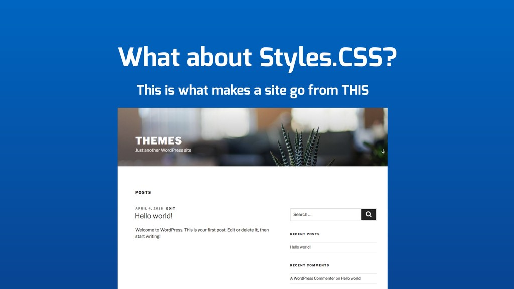 What about Styles.CSS? This is what makes a sit...