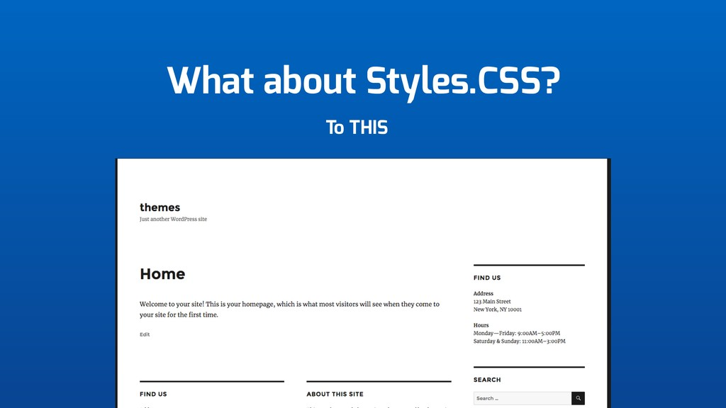 What about Styles.CSS? To THIS