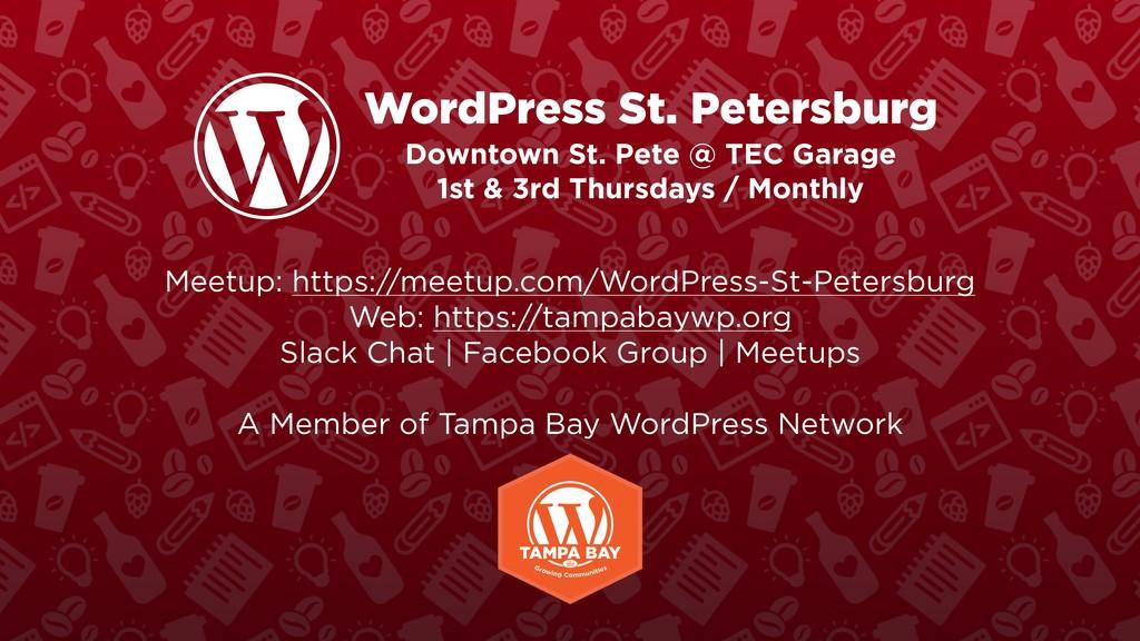 WordPress St. Petersburg Downtown St. Pete @ TE...