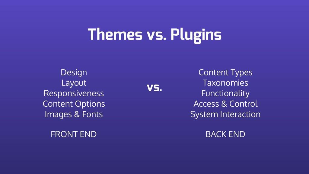 Themes vs. Plugins Design Layout Responsivene...