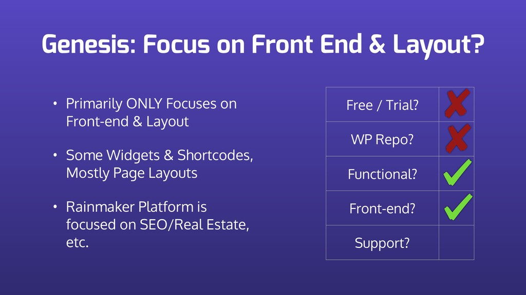 Genesis: Focus on Front End & Layout? Free / Tr...