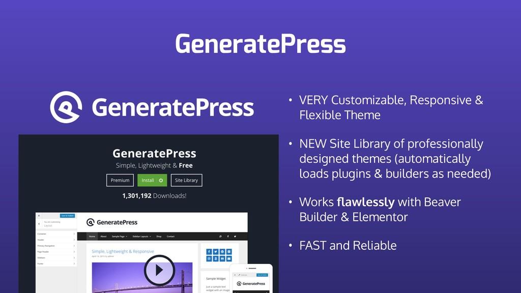GeneratePress • VERY Customizable, Responsive &...