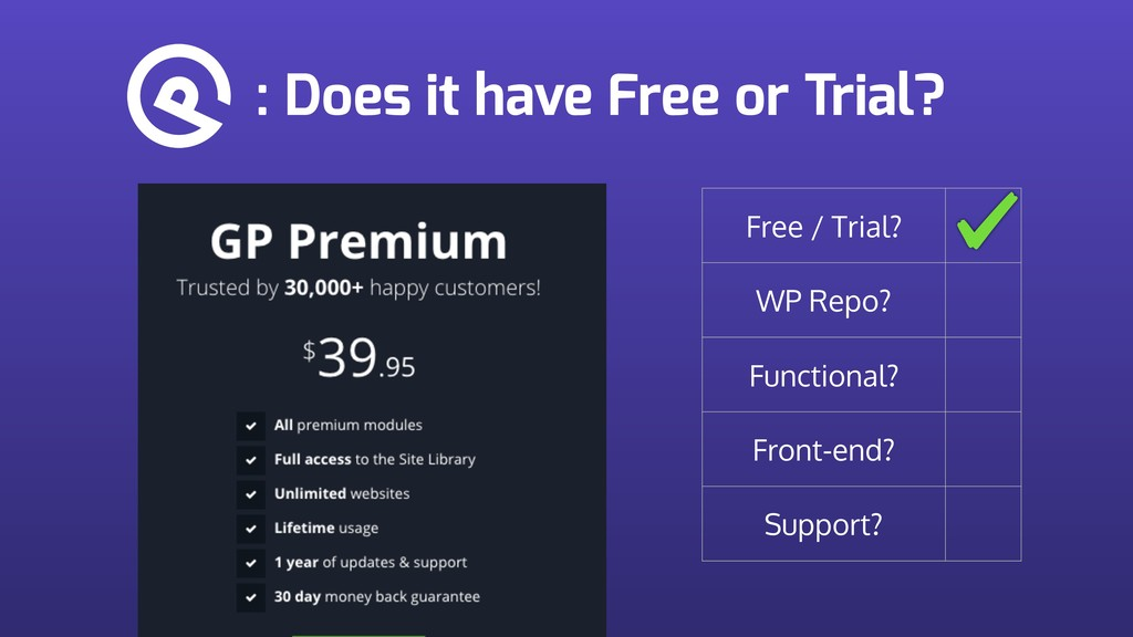 : Does it have Free or Trial? Free / Trial? WP ...