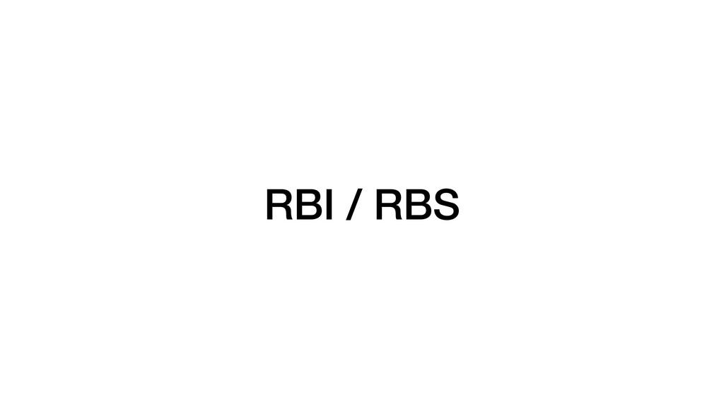 RBI / RBS