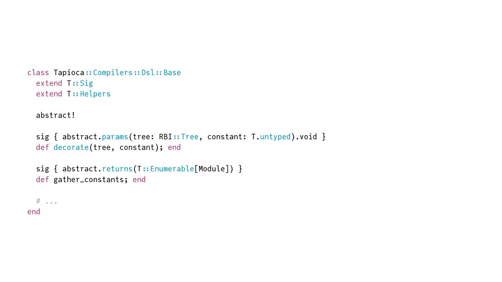 class Tapioca : : Compilers :: Dsl :: Base   ex...