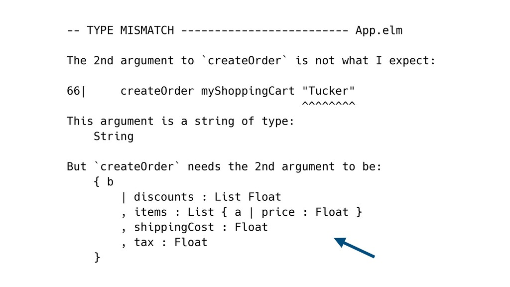 -- TYPE MISMATCH ------------------------- App....