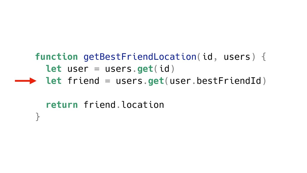 function getBestFriendLocation(id, users) { let...