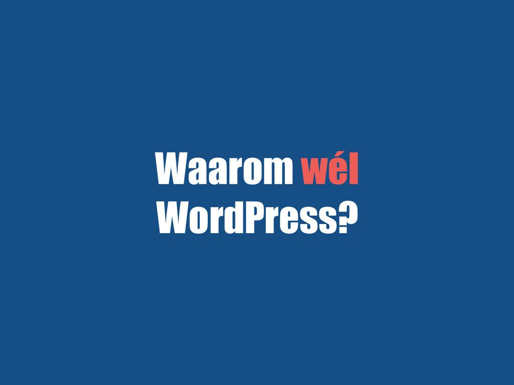 Waarom wél WordPress?