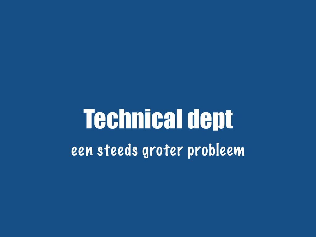 Technical dept een steeds groter probleem