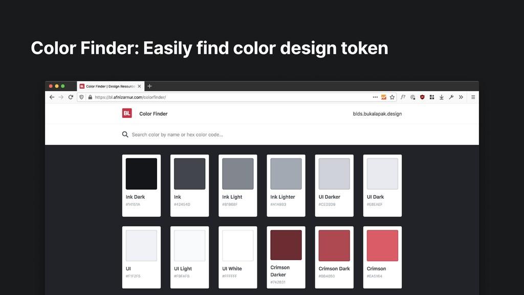 Color Finder: Easily find color design token