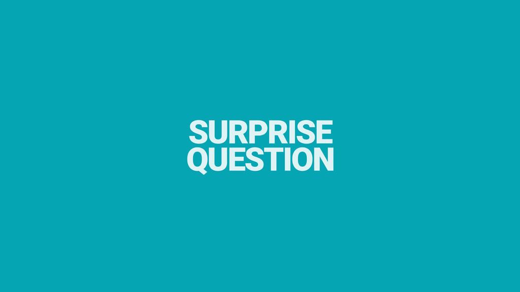 SURPRISE QUESTION Lint