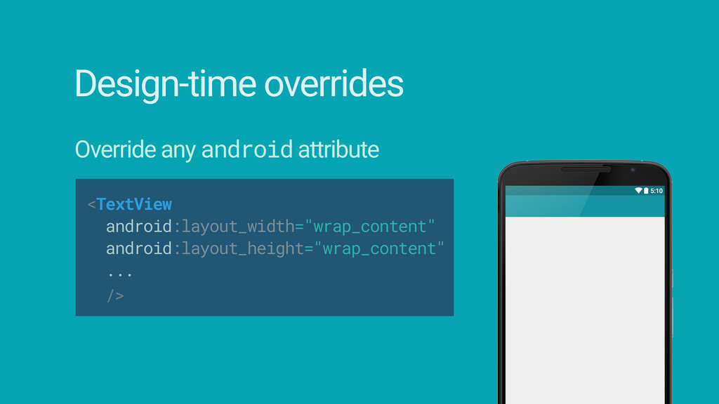"""<TextView android:layout_width=""""wrap_content""""..."""