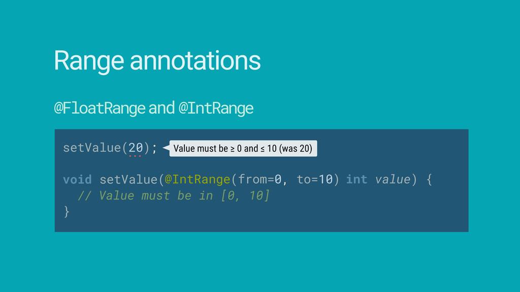 setValue(20);  void setValue( // Value must b...
