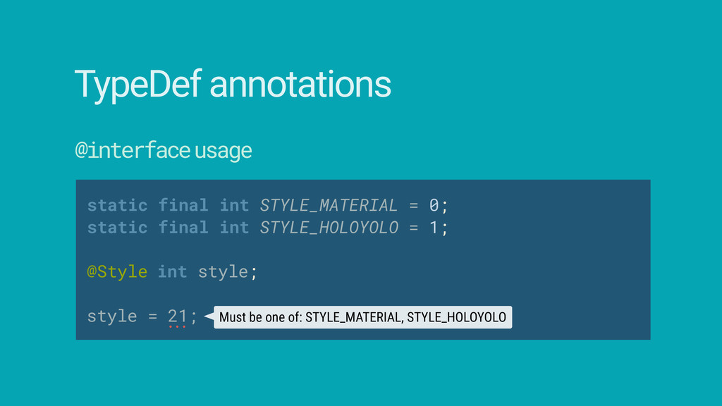 static final int STYLE_MATERIAL = 0; static fi...