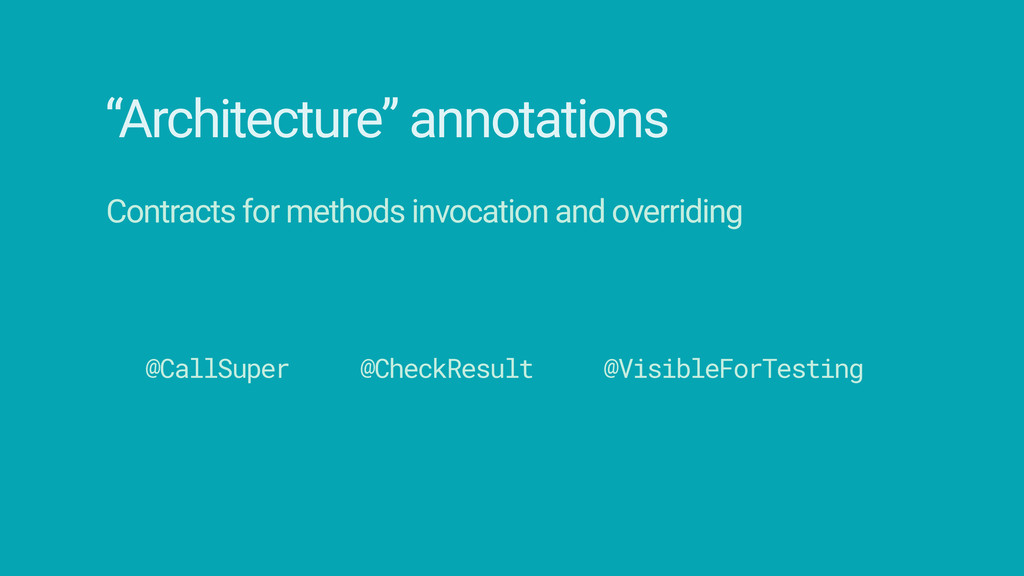 """""""Architecture"""" annotations Contracts for method..."""
