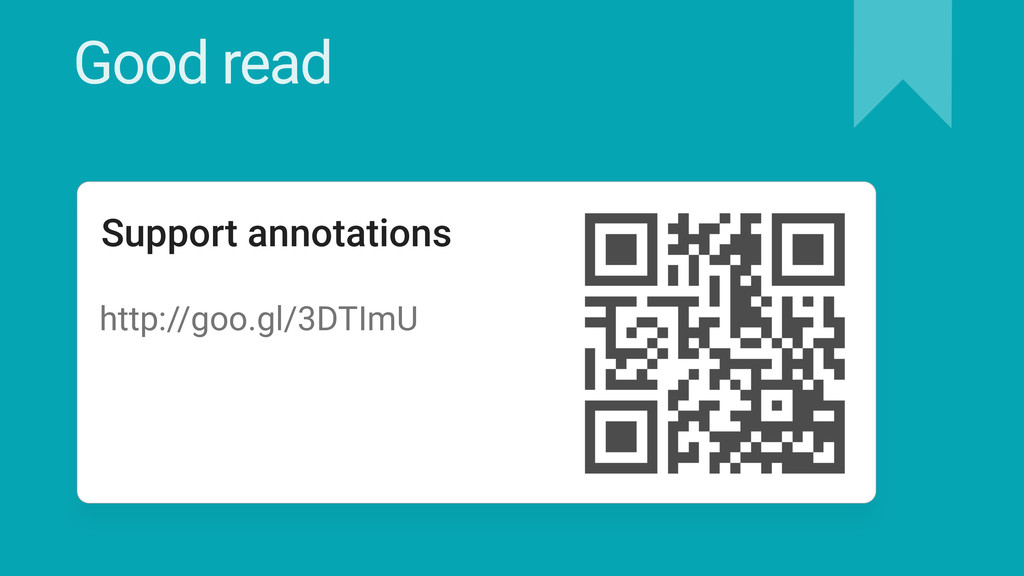 Good read Support annotations http://goo.gl/3DT...