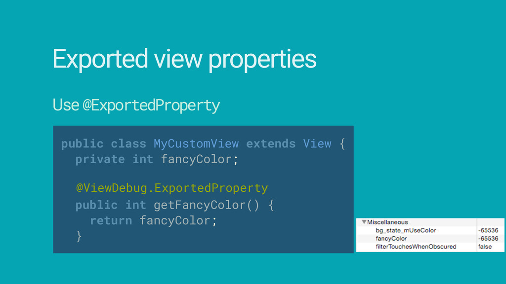 public class MyCustomView extends View { priva...