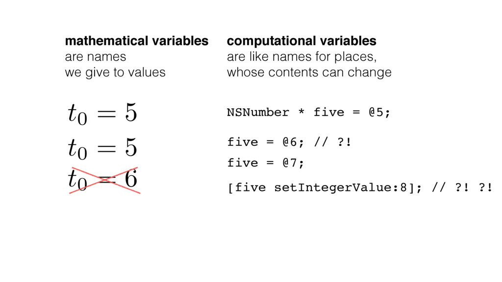 mathematical variables are names we give to val...
