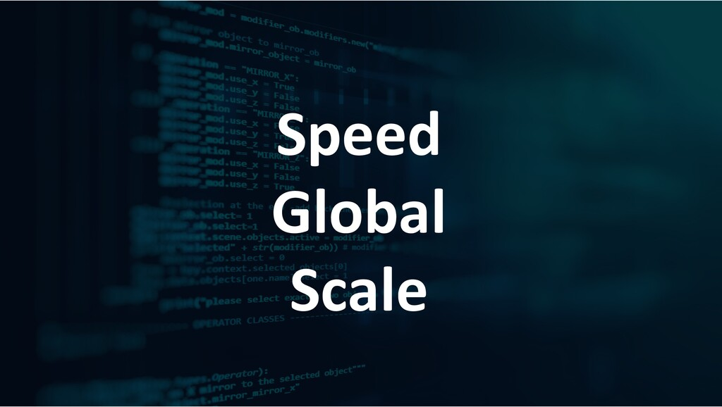 Speed Global Scale