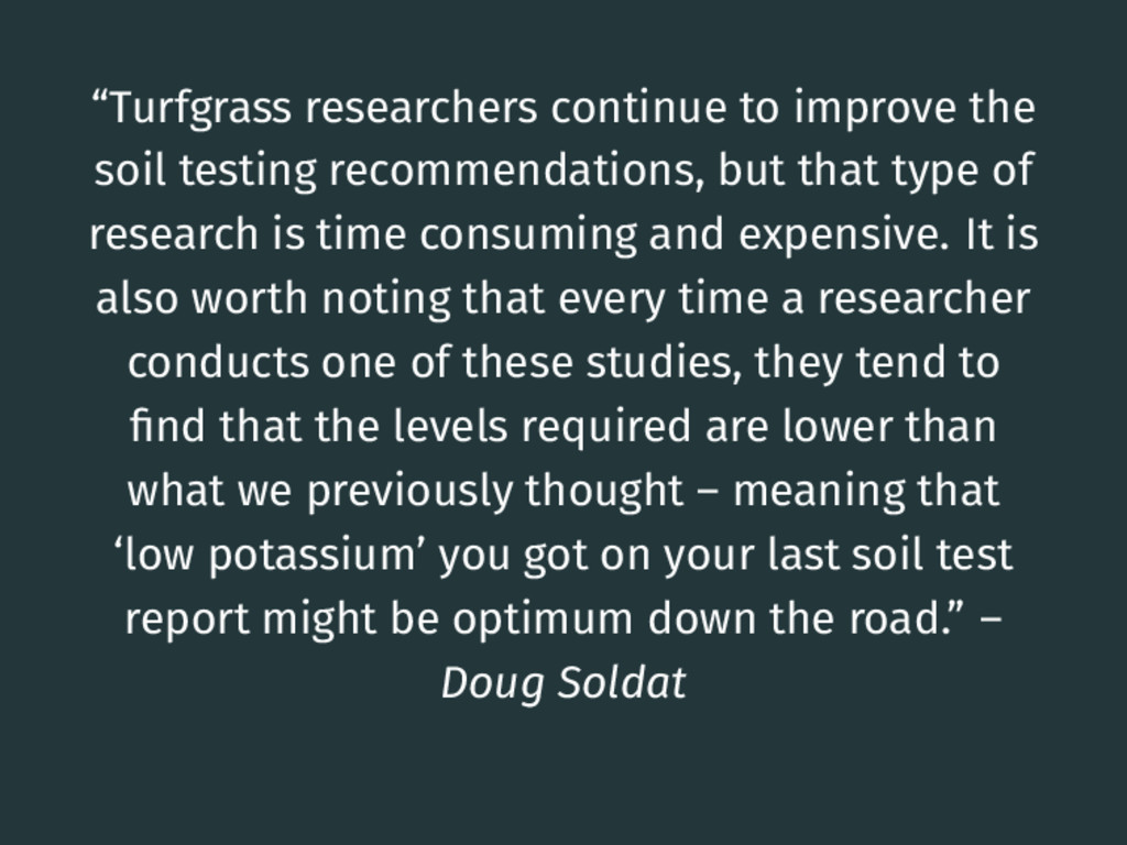 """""""Turfgrass researchers continue to improve the ..."""