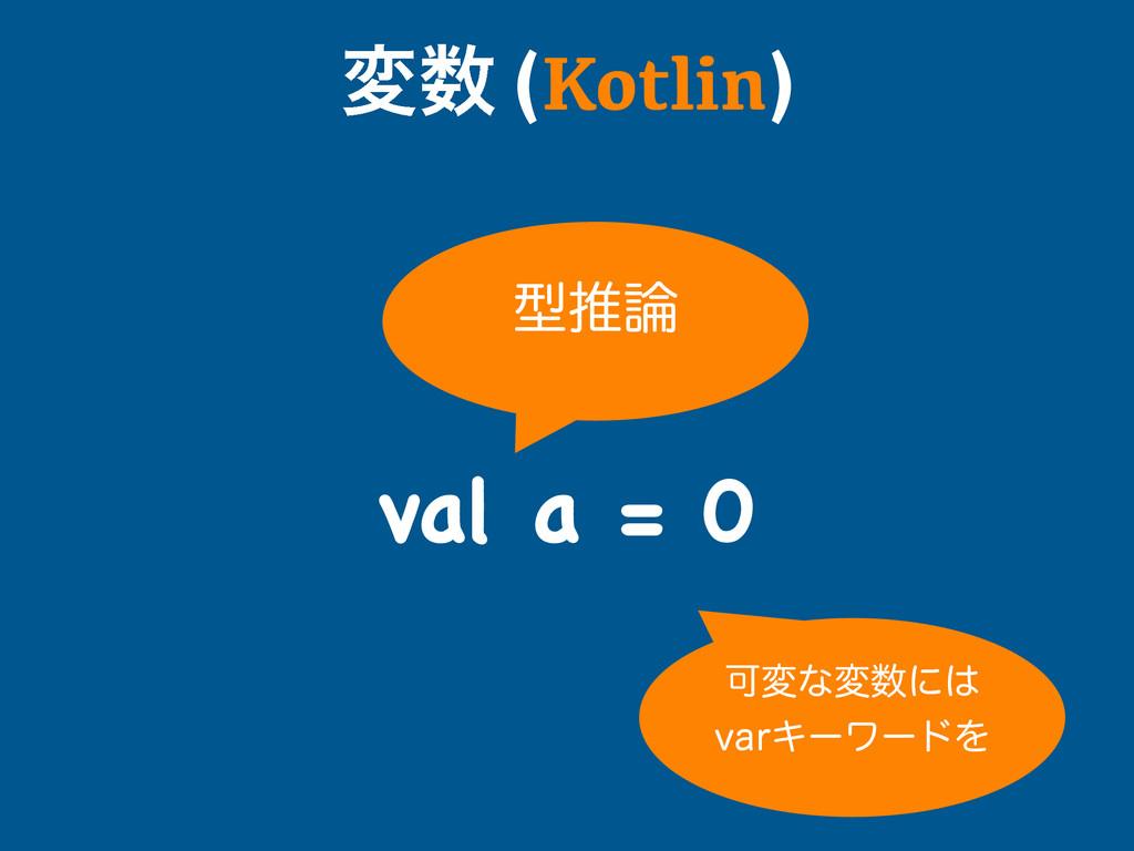 ม (Kotlin) val a = 0 ܕਪ Մมͳมʹ WBSΩʔϫʔυΛ