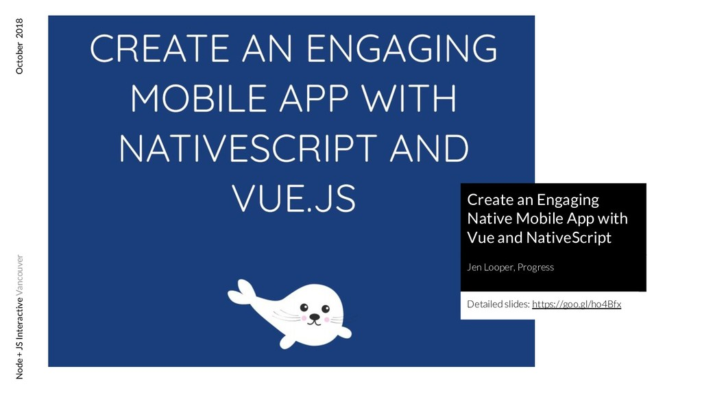 Create an Engaging Native Mobile App with Vue a...