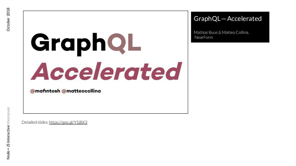 GraphQL—Accelerated Mathias Buus & Matteo Col...