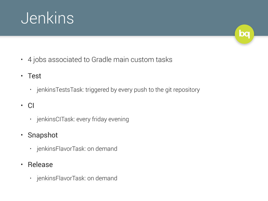Jenkins • 4 jobs associated to Gradle main cust...